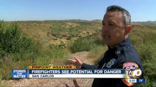 Baixar Firefighters see potential for danger