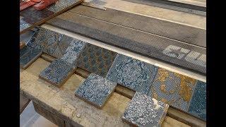 ФИШКА! Укладка керамической плитки на пол ИДЕИ дизайна ванной комнаты Ремонт ванны видео