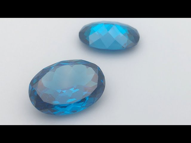 Swiss Blue Color Cubic Zirconia Oval Shape Natural Cut Gemstones