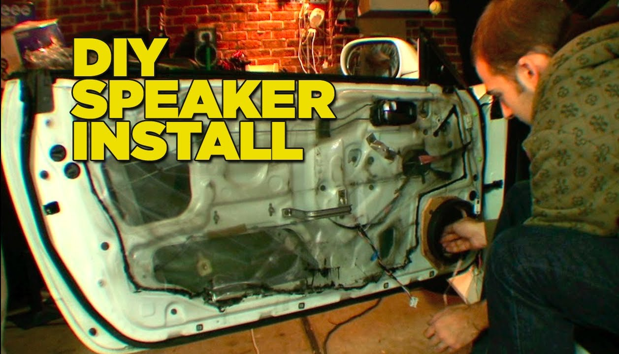 how to install car speakers youtube. Black Bedroom Furniture Sets. Home Design Ideas
