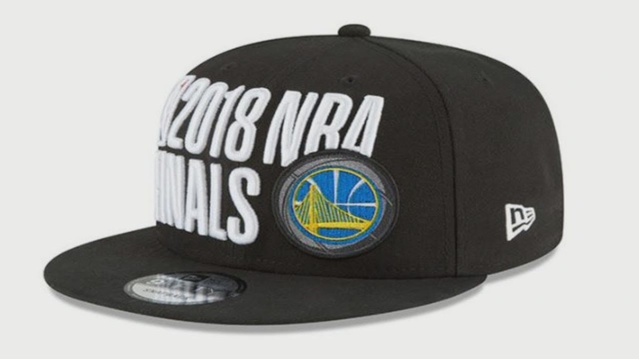 afb5b966ad7 NBA Finals hat design likened to NRA logo - YouTube