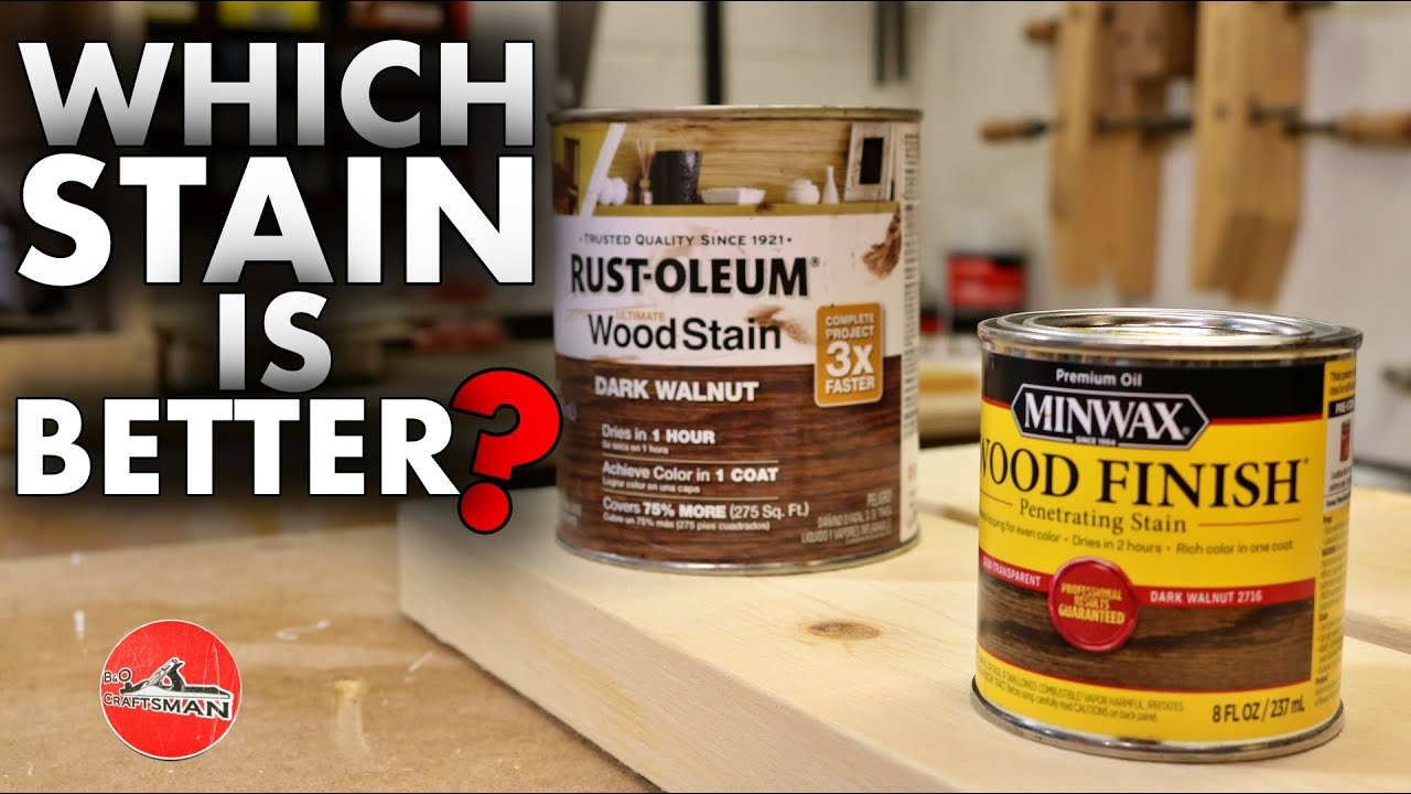 Wood Stain Test Winwax Or Rust Oleum