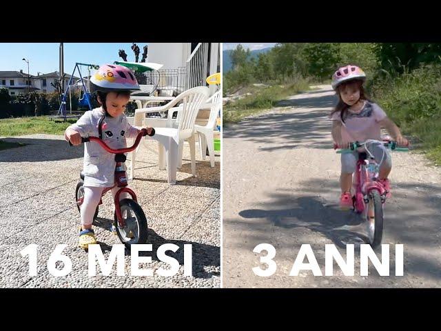 In bici senza rotelle: come insegnare ai bambini ad andare in bicicletta sin da piccoli