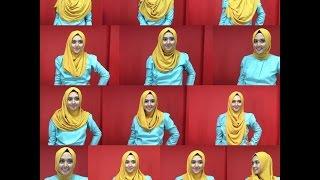 1 Hijab bisa jadi 12 Model !!! Tanpa Pentul, Peniti |Tutorial Pashmina Instan Kinara