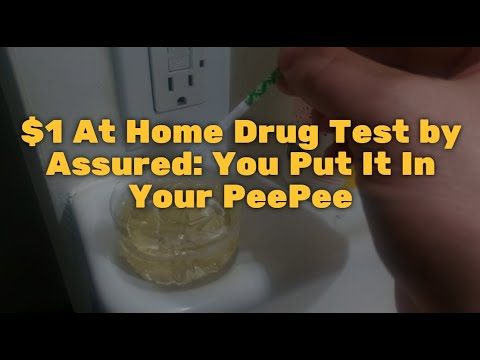 $1 At Home Drug Test By Assured: You Put It In Your PeePee