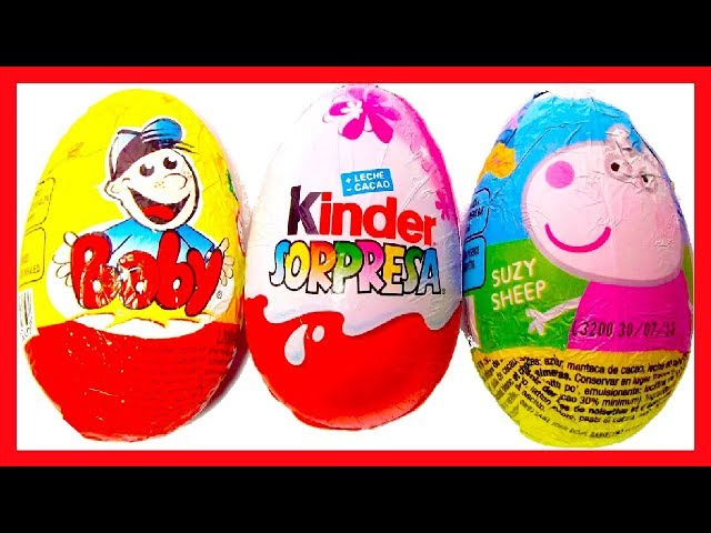 3 HUEVOS SORPRESA PEPPA PIG, MAGIC KINDER PRINCESAS COLECCIÓN 2013 Y BABY. KINDER SURPRISE Videos De Viajes