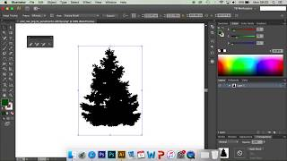 Adobe Illustrator tutorial: How to quickly create a pine tree vector.