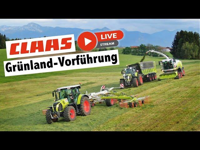 CLAAS Live Grünlandvorführung   Claas Jaguar 990 Terra Trac & Axion 960 Terra Trac