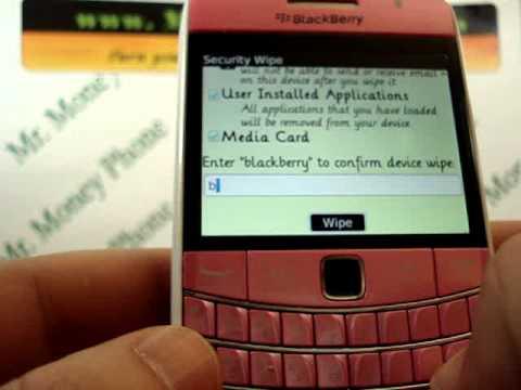 hard reset blackberry bold 9700 wipe data master reset restore to rh youtube com BlackBerry Bold 9000 BlackBerry Bold 9000