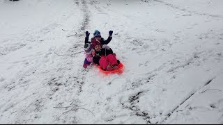 Kids Sledding In The Snow!!! | Family Vlog