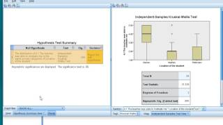 SPSS - Kruskal Wallis H test with post-hoc
