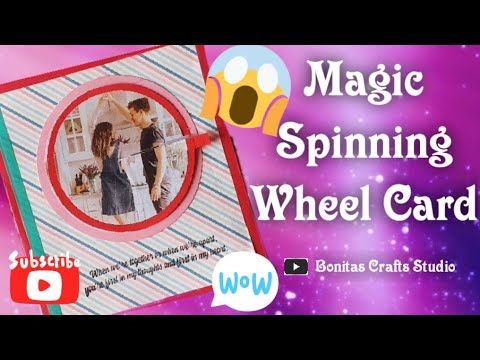 #Magic Spinning Wheel Card | #Surprise Card with a #Hidden Picture | Photo Spin Card