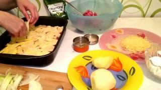 Картофельная запеканка с фаршем в духовке Рецепт как приготовить вкусно ужин домашний быстро видео(Картофельная запеканка с фаршем рецепт в духовке с сыром. Как приготовить картофельную запеканку в домашни..., 2015-03-28T18:32:01.000Z)