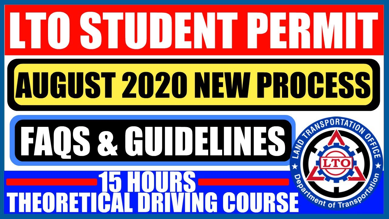 LTO STUDENT PERMIT AUGUST 2020 NEW PROCESS | FAQs & GUIDELINES