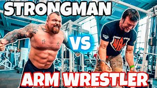 Strongman VS Arm wrestler Ft Devon Larratt
