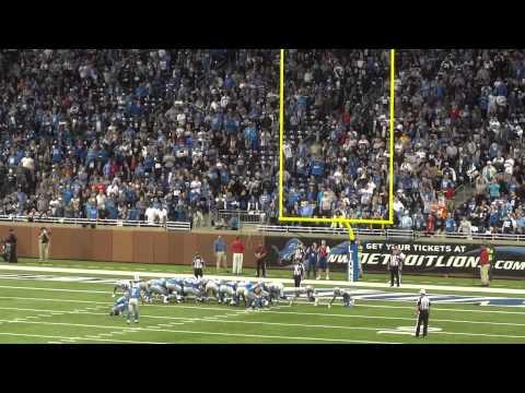 Detroit Lions David Akers Winning Kick