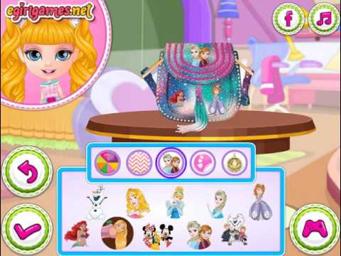 Мультик игра Малышка Барби: Сумка Дисней (Baby Barbie Disney Bag)