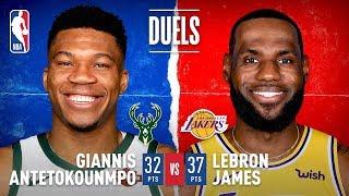 LeBron & Giannis Duel In Los Angeles!