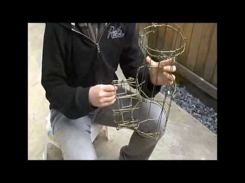 видео: Печь из проволоки и камней своими руками