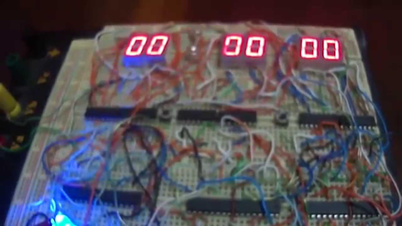 Circuito Eletronico : Relógio digital digitos em circuito eletrônico eletrônica