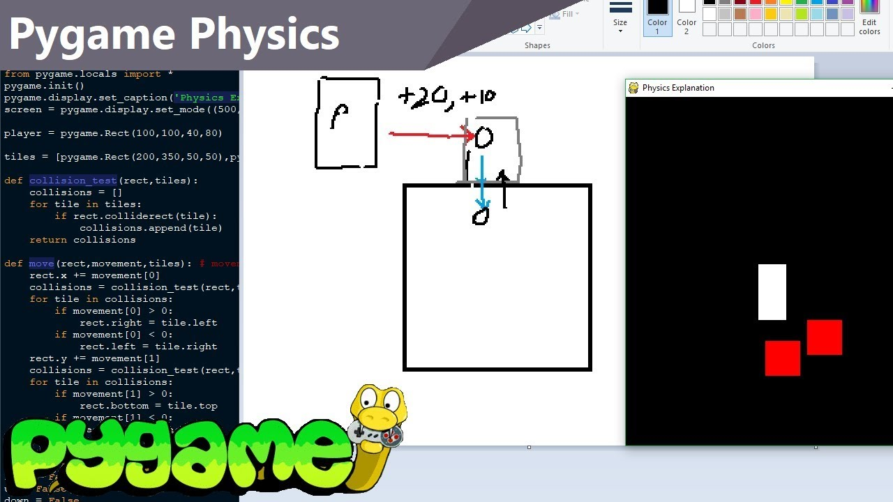 In-depth Pygame Physics Explanation
