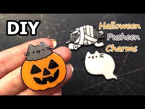 DIY Halloween Pusheen Charm Tutorial   Shrinky Dinks