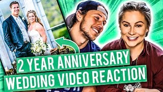Download WEDDING VIDEO REACTION! 2 YEAR ANNIVERSARY | Shawn Johnson Mp3 and Videos
