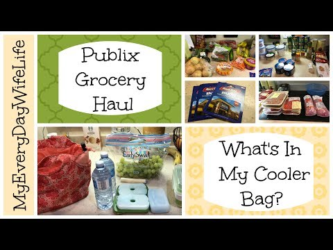 What's In My Cooler Bag || Publix Grocery Haul || Clean Eating