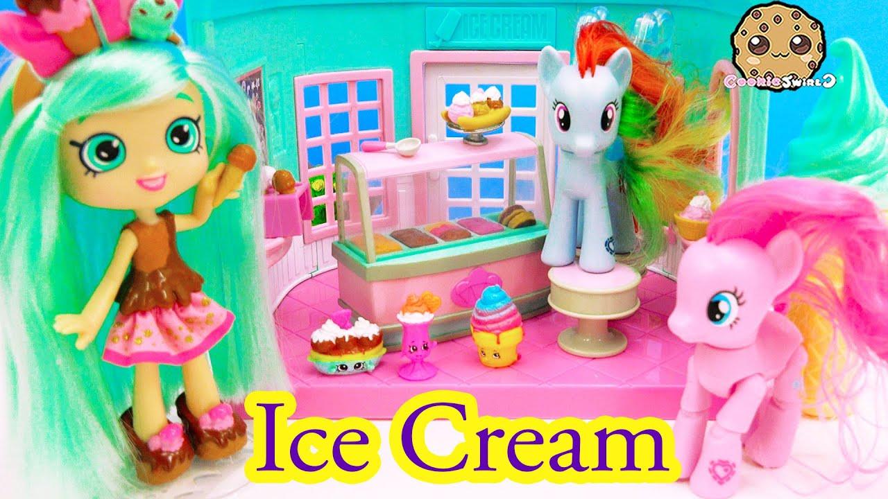 ... Shoppies Doll + MLP Rainbow Dash, Pinkie - Cookieswirlc - YouTube