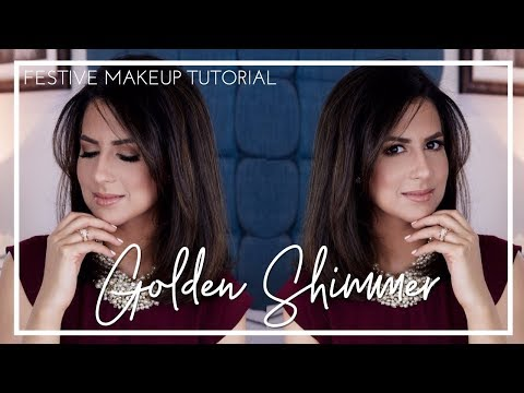 GOLDEN SMOKEY EYE| Christmas Makeup Tutorial | JASMINA BHARWANI