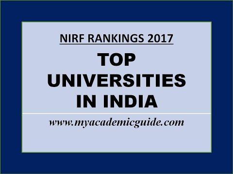 Top 25 Best Universities in India - 2017 Rankings