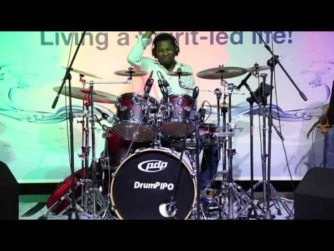 Amazing drummer at Gospel jazz in the city _ Jabulani Africa _ DrumPIPO Ensemble