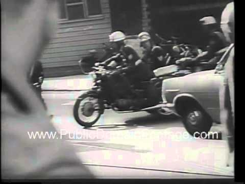 1966 Amsterdam Holland Street Riots over labor disputes newsreel archival footage