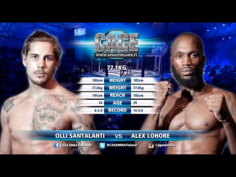 CAGE 44 Olli Santalahti vs Alex Lohore Full Fight MMA