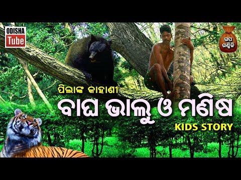 Odia Children Story | ବାଘ ଭାଲୁ ଓ ମଣିଷ | ପିଲାଙ୍କ ନୀତିଶିକ୍ଷା ଭିତ୍ତିକ କାହାଣୀ | Gapa Ganthili