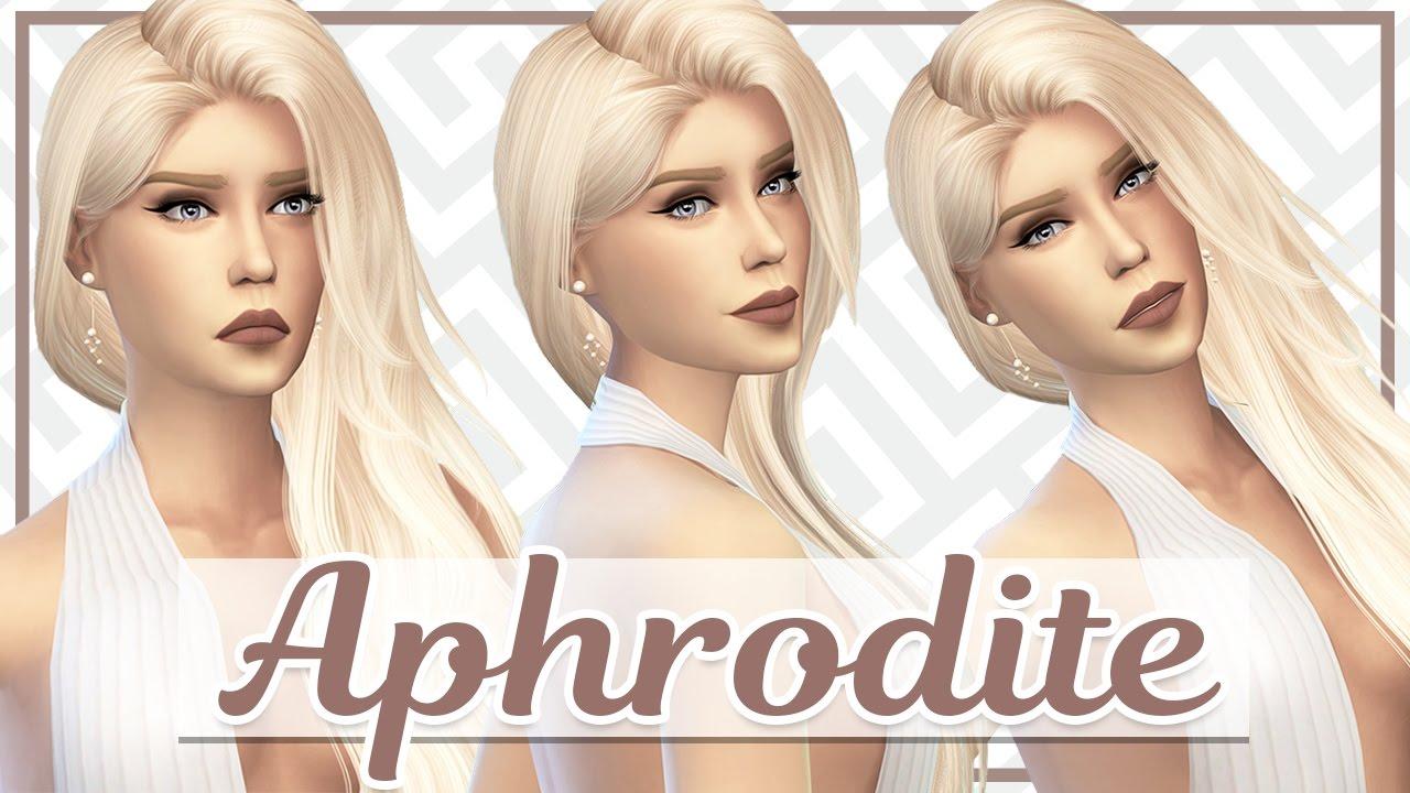 aphrodite the sims 4 cas a greek goddess collab with megella