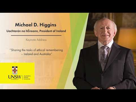 Michael D. Higgins, President of Ireland at UNSW Sydney - Q and A session EXCERPT