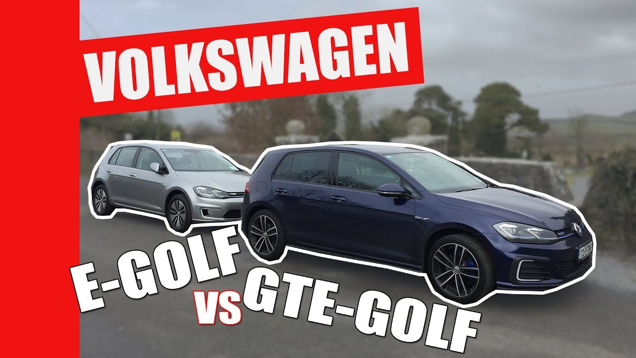 Hybrid Or Electric Volkswagen E Golf V S Gte Perfect Two Car Garage