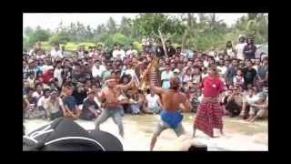 """INDONESIA #5.6: Local party """"Nyale"""" (stick fight) in Lombok."""