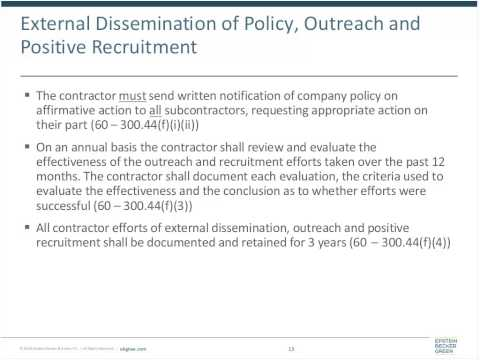 Federal Government Contractors and Subcontractors: OFCCP, VEVRAA, and Rehabilitation Act – Part I