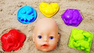 Funny story about Ulya and Baby Born Doll & sand molds