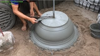 how To Construction A Bonsai Pot From Sand And Cement - Build Extremely Simple Concrete Pots