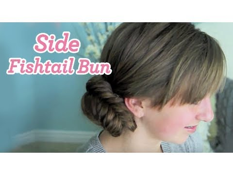 side-fishtail-bun-|-updos-|-cute-girls-hairstyles