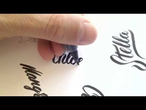 Brush pen calligraphy no 1 youtube Calligraphy youtube