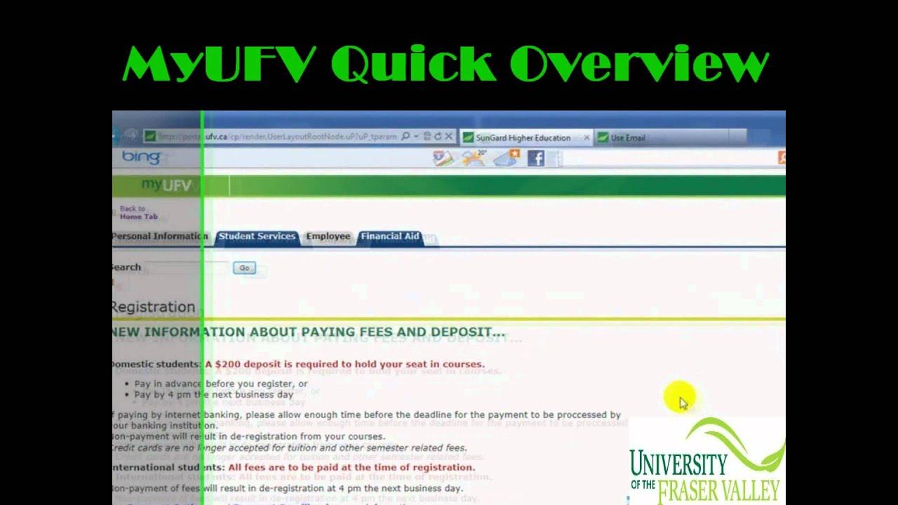 myufv MyUfv Website - Q