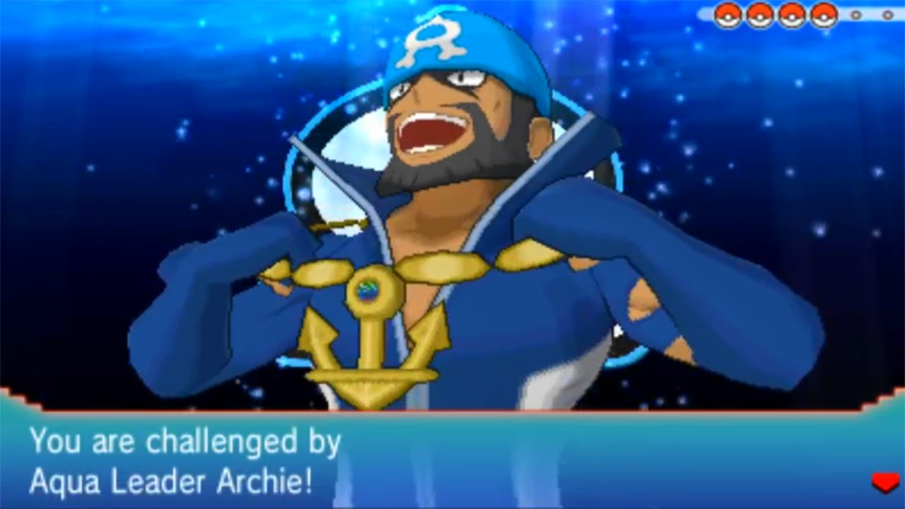 Pok 233 Mon Alpha Sapphire Aqua Leader Archie Final Battle