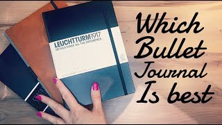 Comparing Bullet Journal notebooks |  Leuchtturm, lemome & Scribbles that matter review