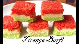 Tiranga barfi/independence day special mithai/sweets/burfi by Raks Food Diaries