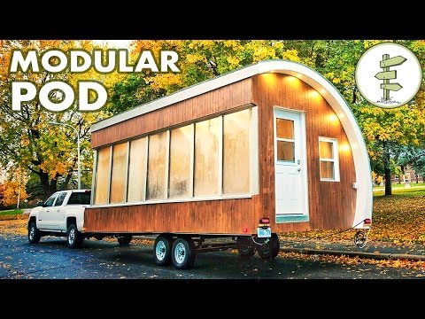 Solar Powered Pod as Prototype for Tiny House, Mobile Office