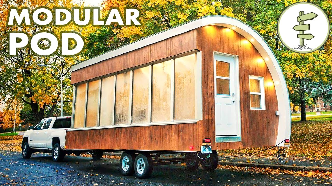 solar powered pod as prototype for tiny house mobile office more - Tiny House Mobile